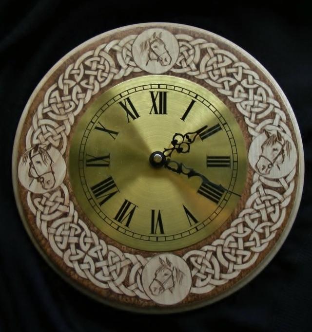 Celtic Horse Head Clock